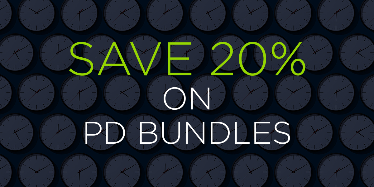 Save 20% on PD Bundles