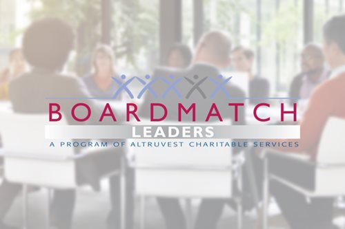20% OFF THE BOARDMATCH LEADERS PROGRAM OFFERED BY ALTRUVEST CHARITABLE SERVICES