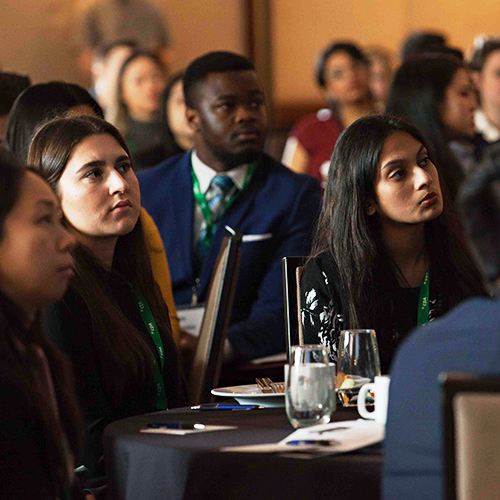 Post-secondary students attending Chartered for Finance 2020