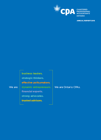 2015 CPA Ontario Annual Report